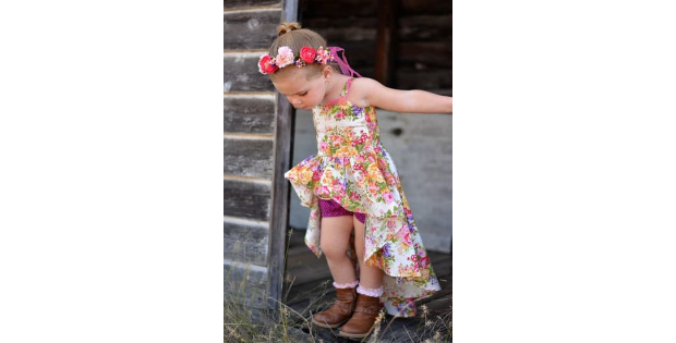 Adileen's Cascading Dress and Tunic sewing pattern (Sizes 2T-14)