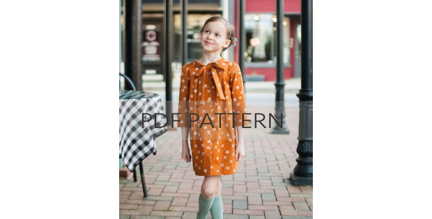 Agatha Top and Dress sewing pattern (2T to 14 years)