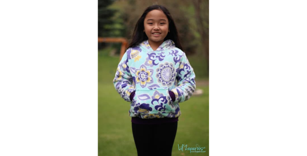 Kids Halftime Hoodie sewing pattern (sizes 2 to 18)