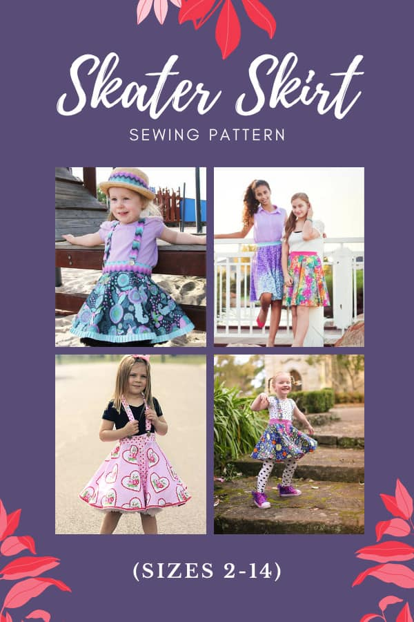Skater Skirt sewing pattern (sizes 2-14)