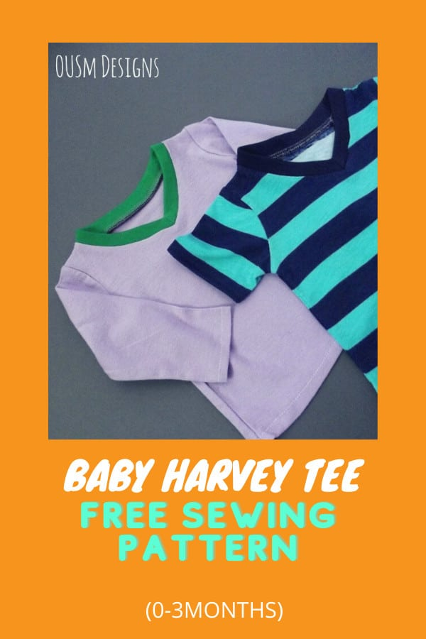 Baby Harvey Tee FREE sewing pattern (0-3 months)