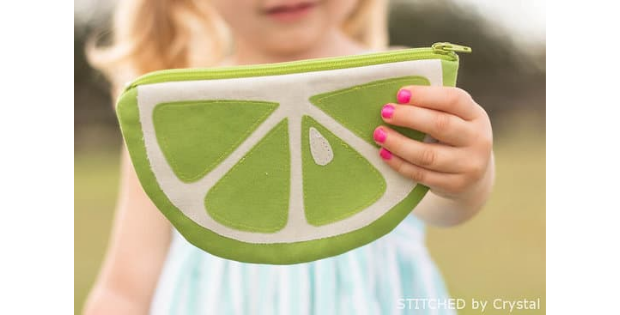 Fruit Slice Purses and Pouches FREE sewing pattern