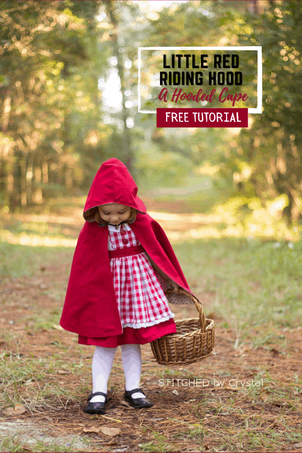 Little Red Riding Hood - A Hooded Cape FREE tutorial