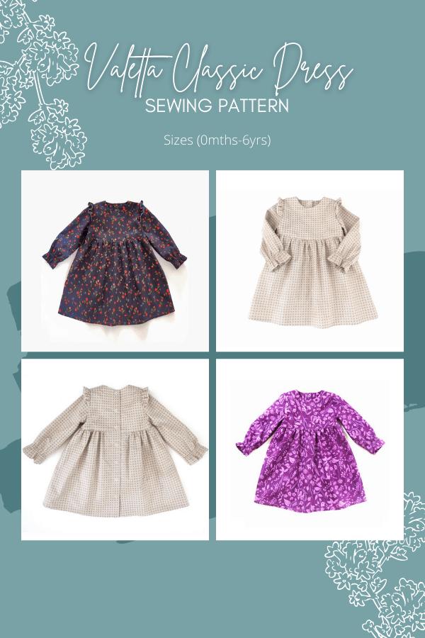 Valetta Classic Dress sewing pattern (0mths-6yrs)