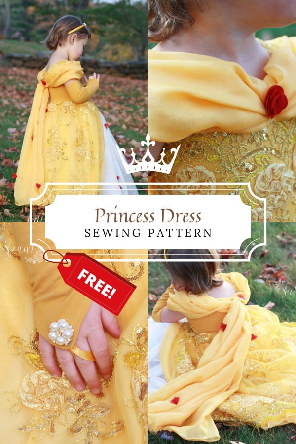 Princess Dress FREE sewing pattern (size 3)