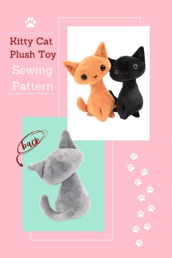 Kitty Cat Plush Toy sewing pattern