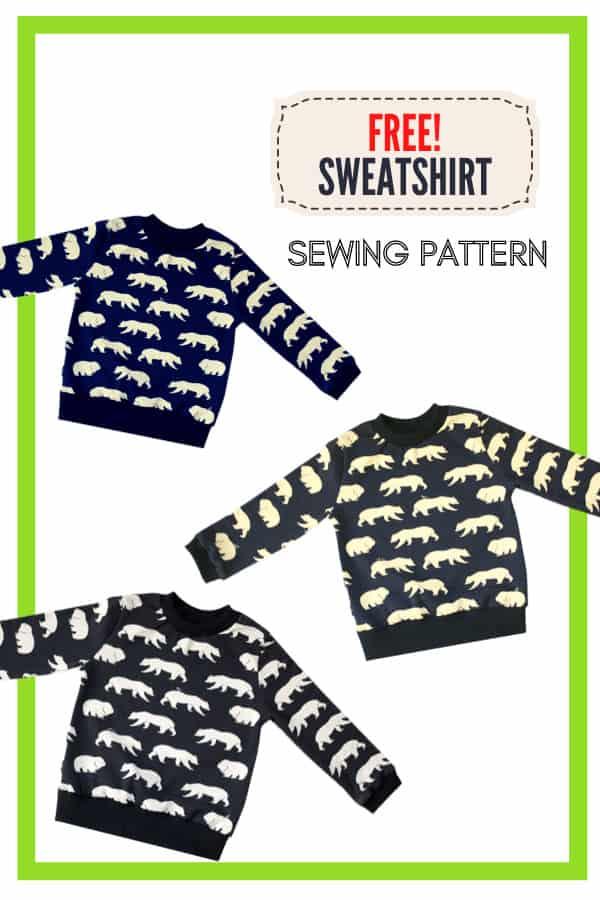 FREE Sweatshirt sewing pattern and tutorial (Newborn-2T)