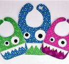 Monster Bib FREE sewing pattern