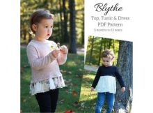 Blythe Top, Tunic and Dress sewing pattern (3mths-12yrs)
