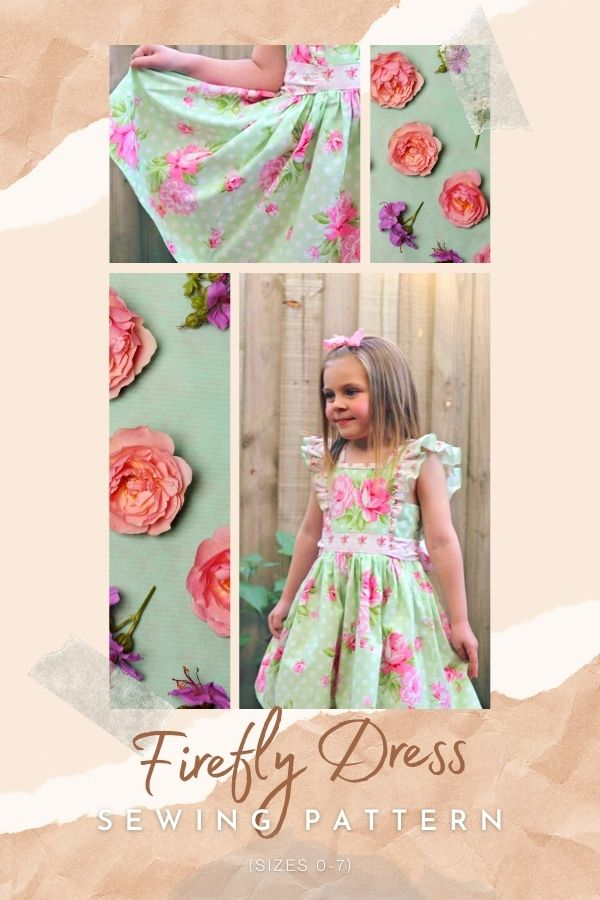 Sewing pattern for the Firefly Dress (Sizes 0-7)