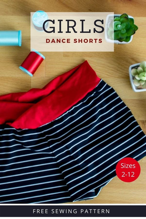 FREE Sewing pattern for the Girls Dance Shorts (Sizes 2-12)