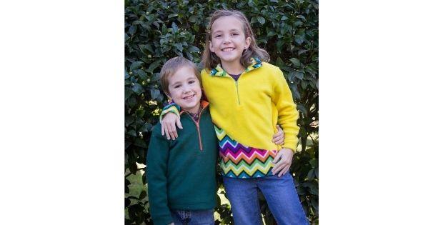 Kids K2 Fleece Pullover sewing pattern (sizes 2-18)
