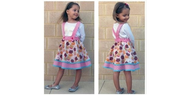 Sewing pattern for the Topsy Twirly Flared Skirt (1-12yrs)