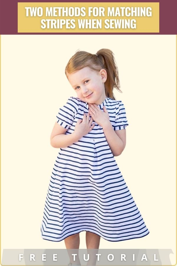 FREE sewing tutorial showing you two methods for matching stripes when sewing