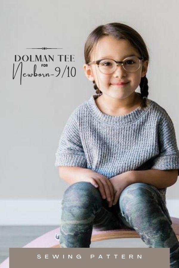 Dolman Tee sewing pattern (Newborn-9/10)
