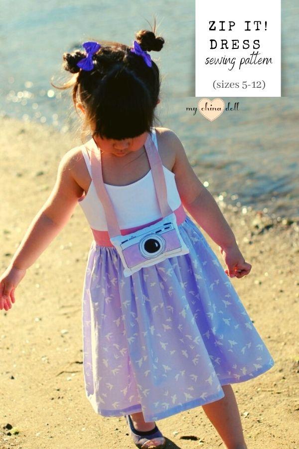 Zip It! Dress sewing pattern (sizes 5-12)