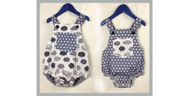Sewing pattern for Baby Boy Romper (3+ months to 3 years)