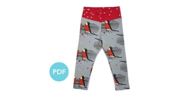 FREE sewing pattern for the Celeste Leggings (Preemie to 12 years)