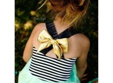 Sewing pattern for the Cross Bow Dress (sizes 0-8)