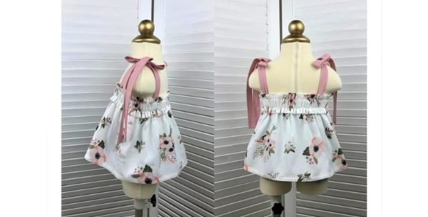 Sewing Pattern for a Girls Top With Straps (3mths-6yrs)