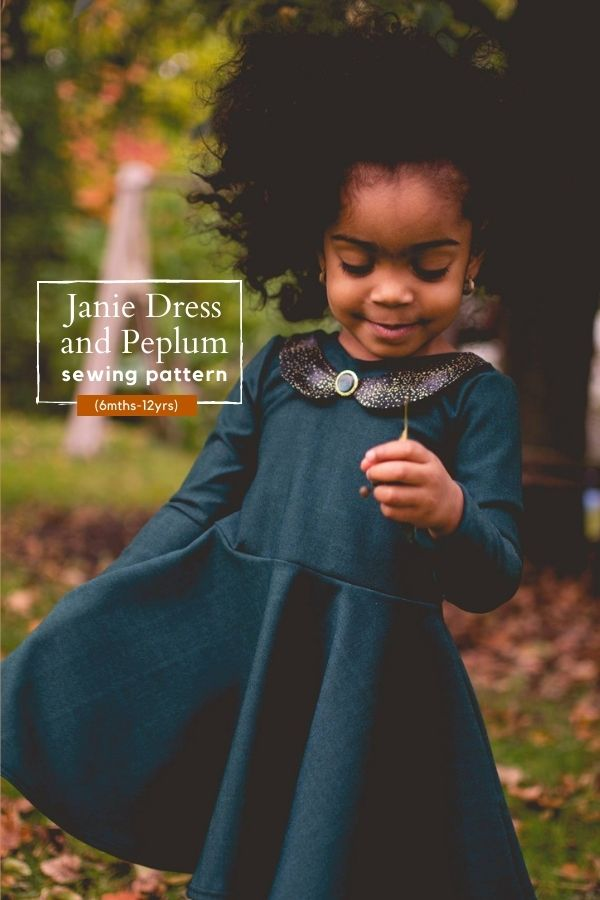 Sewing pattern for the Janie Dress and Peplum (6mths-12yrs)