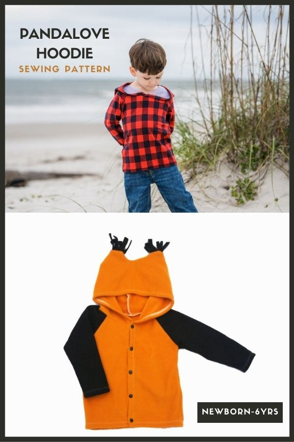 Sewing pattern for the Pandalove Hoodie (newborn-6yrs)