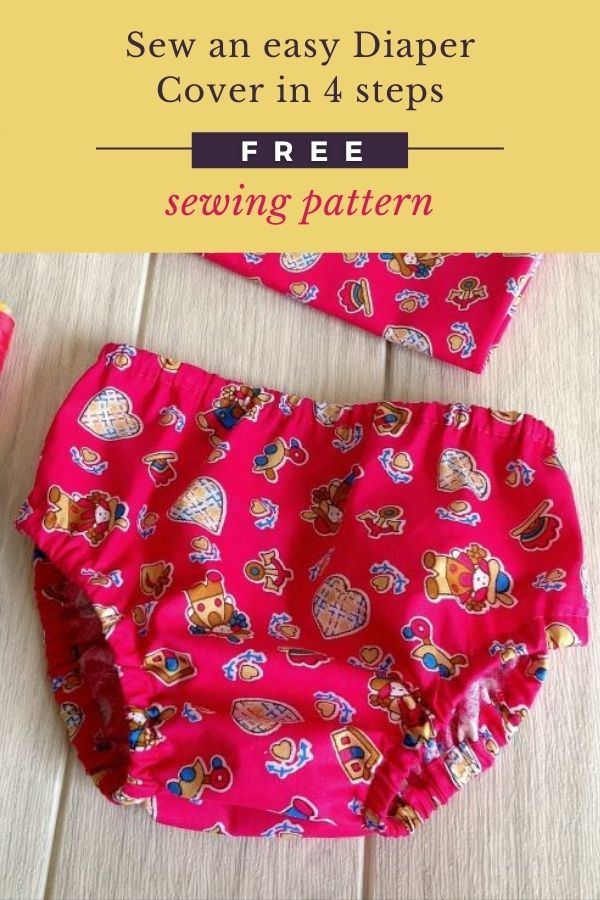 Sew an easy Diaper Cover in 4 steps FREE sewing pattern