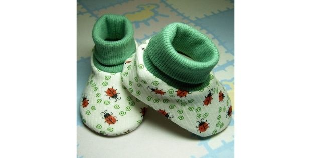 Sweetgrass Meadow Baby Booties sewing pattern (Preemie-12mths)