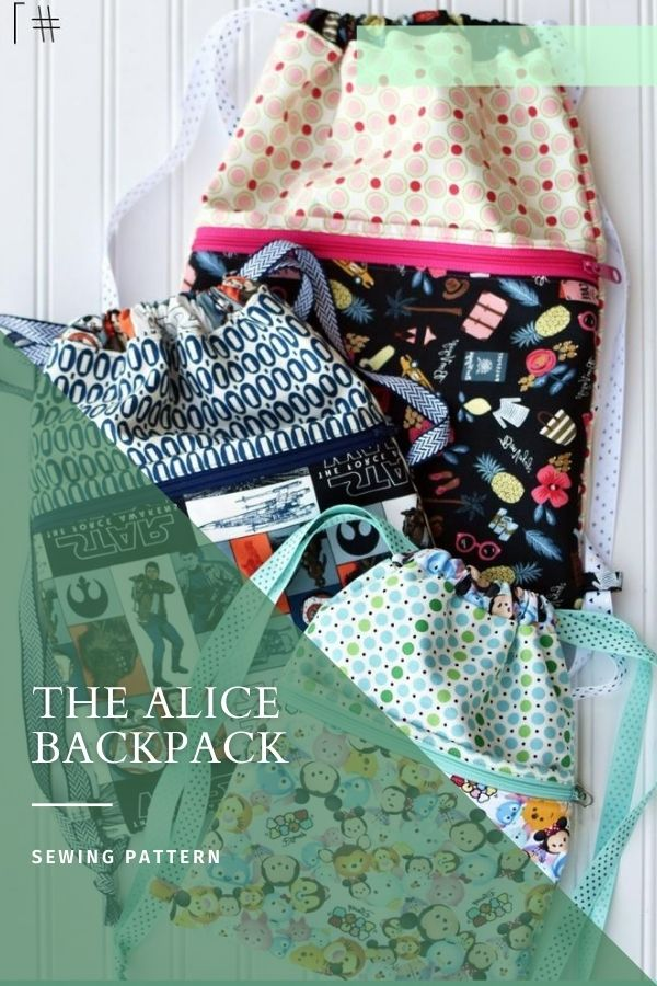 Sewing pattern for the Alice Backpack