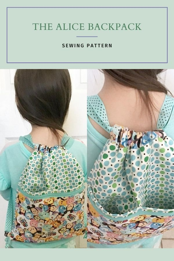 Sewing pattern for the Alice Backpac
