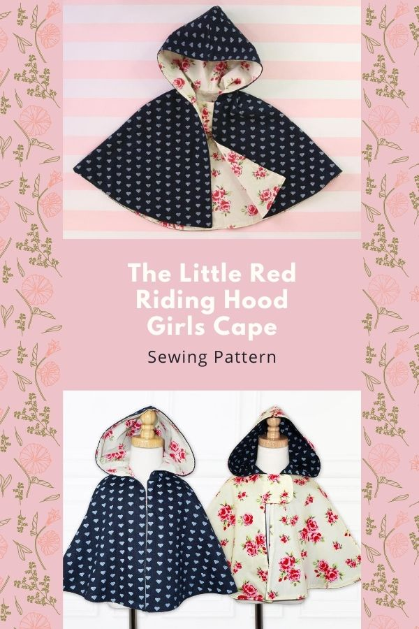 Sewing pattern for the Little Red Riding Hood Girls Cape