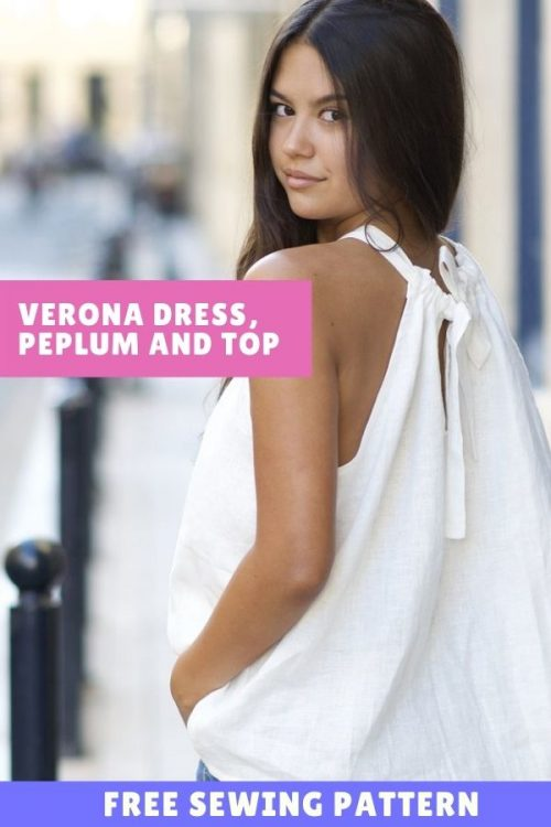 FREE sewing pattern for the Verona Dress, Peplum and Top