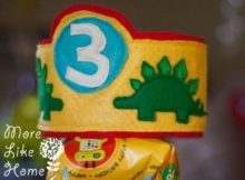 FREE Sewing pattern for the Dinosaur Birthday Crown