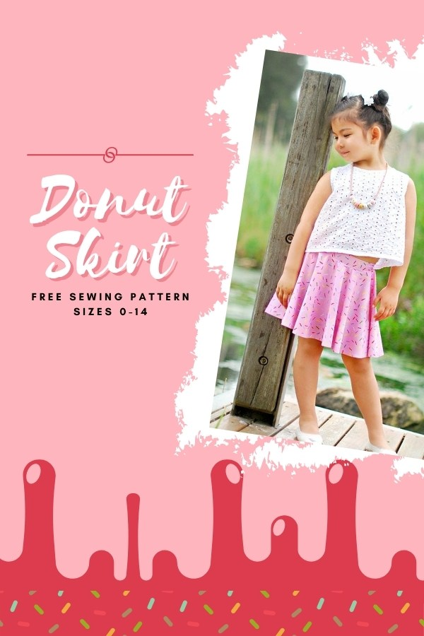 FREE Sewing pattern for the Donut Skirt (sizes 0-14)