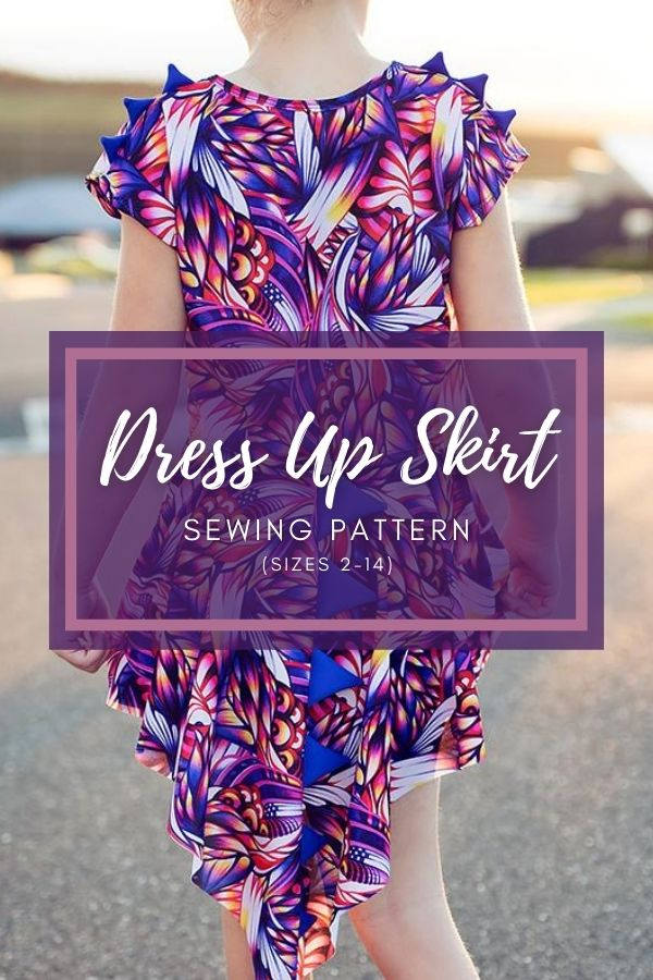 Dress Up Skirt sewing pattern (sizes 2-14)