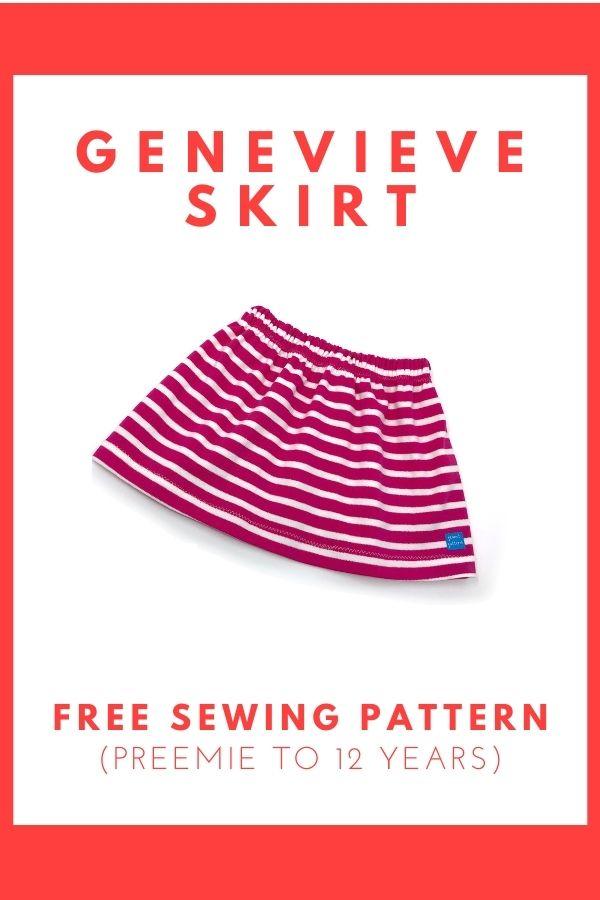 Genevieve Skirt FREE sewing pattern (Preemie to 12 years)