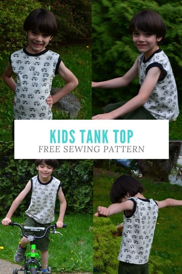 FREE sewing pattern for a Kids Tank Top