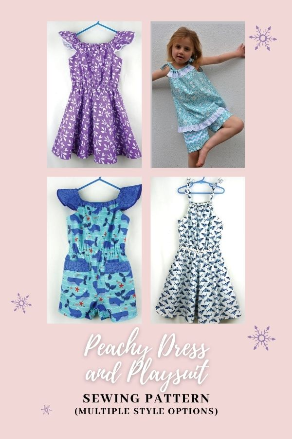 Peachy Dress and Playsuit sewing pattern (multiple style options)