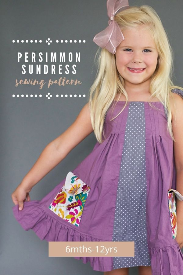 Sewing pattern for the Persimmon Sundress (6mths-12yrs).