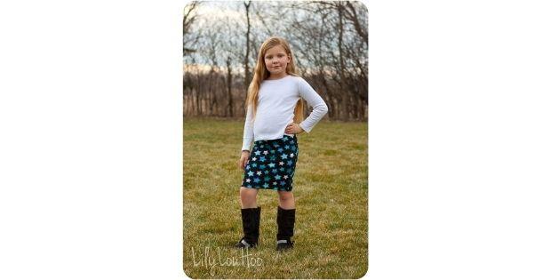 Pipsqueak Pencil Skirt sewing pattern (Sizes 3mths-12yrs)