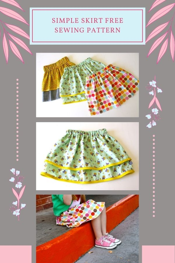 FREE sewing pattern for a Simple Skirt