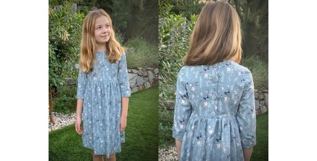 Sewing pattern for the Margo Dress (Sizes 2-8)