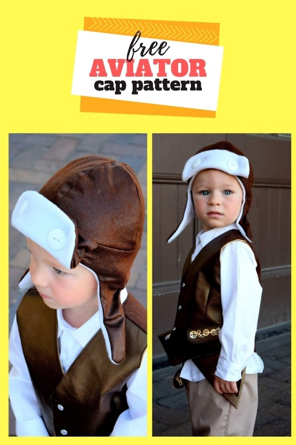 FREE Sewing pattern for the Toddler Aviator Hat