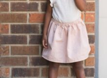 A Simple Summer Skirt FREE sewing tutorial (Size 7)