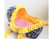 FREE Sewing pattern for the Baby Doll Moses Basket