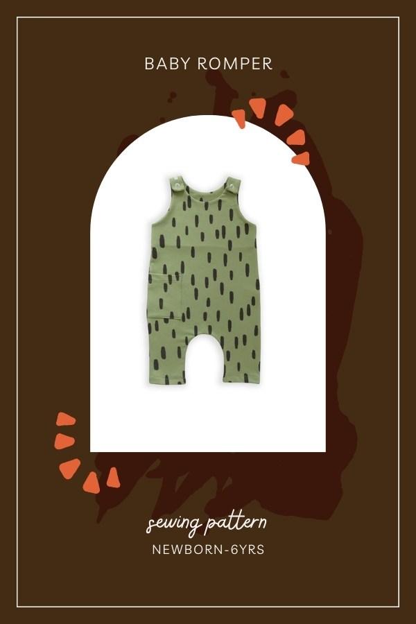 Baby Romper sewing pattern (Newborn-6yrs)