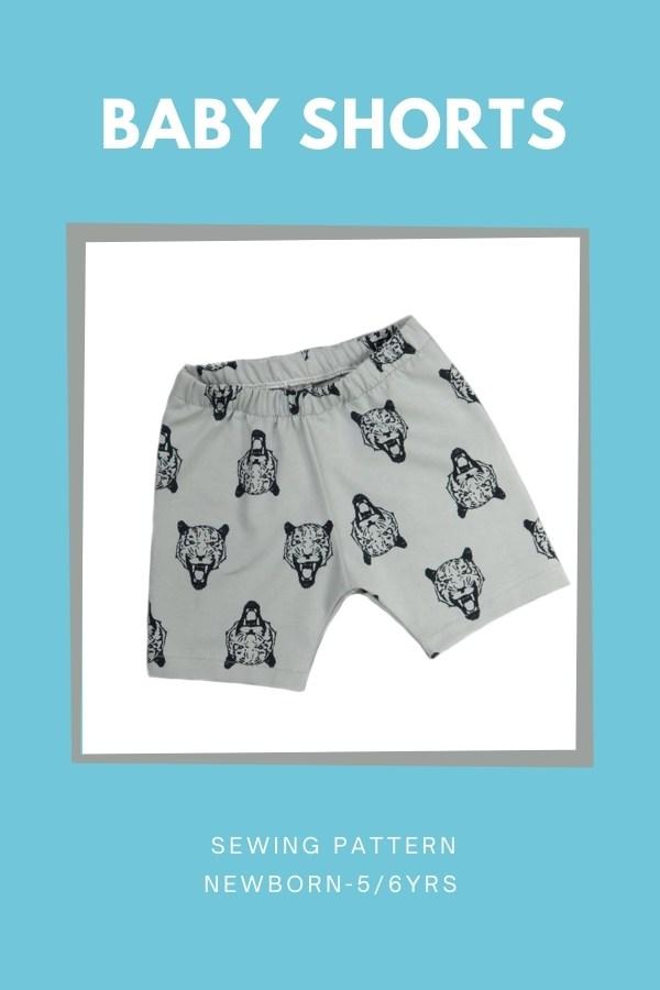 Baby Shorts sewing pattern (Newborn-5/6yrs)