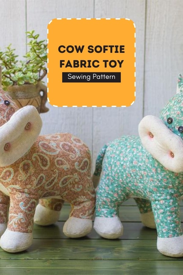 Cow Softie Fabric Toy sewing pattern