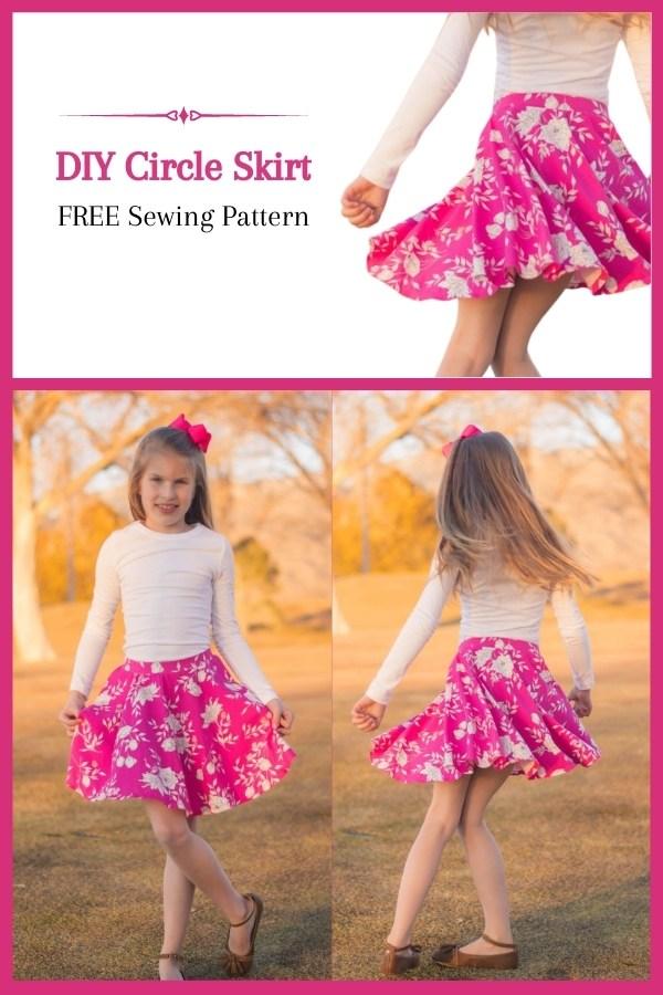 DIY Circle Skirt FREE sewing pattern