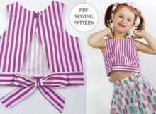 Gelato Cute Kids Summer Top and Shorts pattern (Sizes 2-10 yrs)